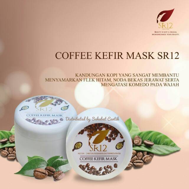 Jual Coffe Kefir Mask SR12 Kemasan Baru Beserta Manfaatnya