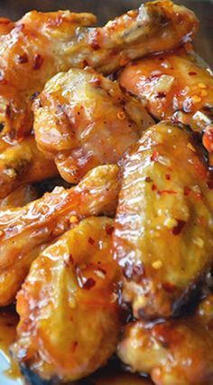 Crispy Baked Orange Chicken Wings Recipe