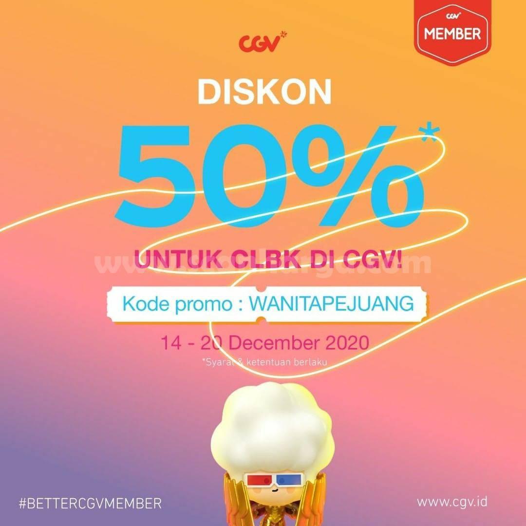 CGV Promo CLBK – Diskon 50% Tiket Nonton untuk Semua Film