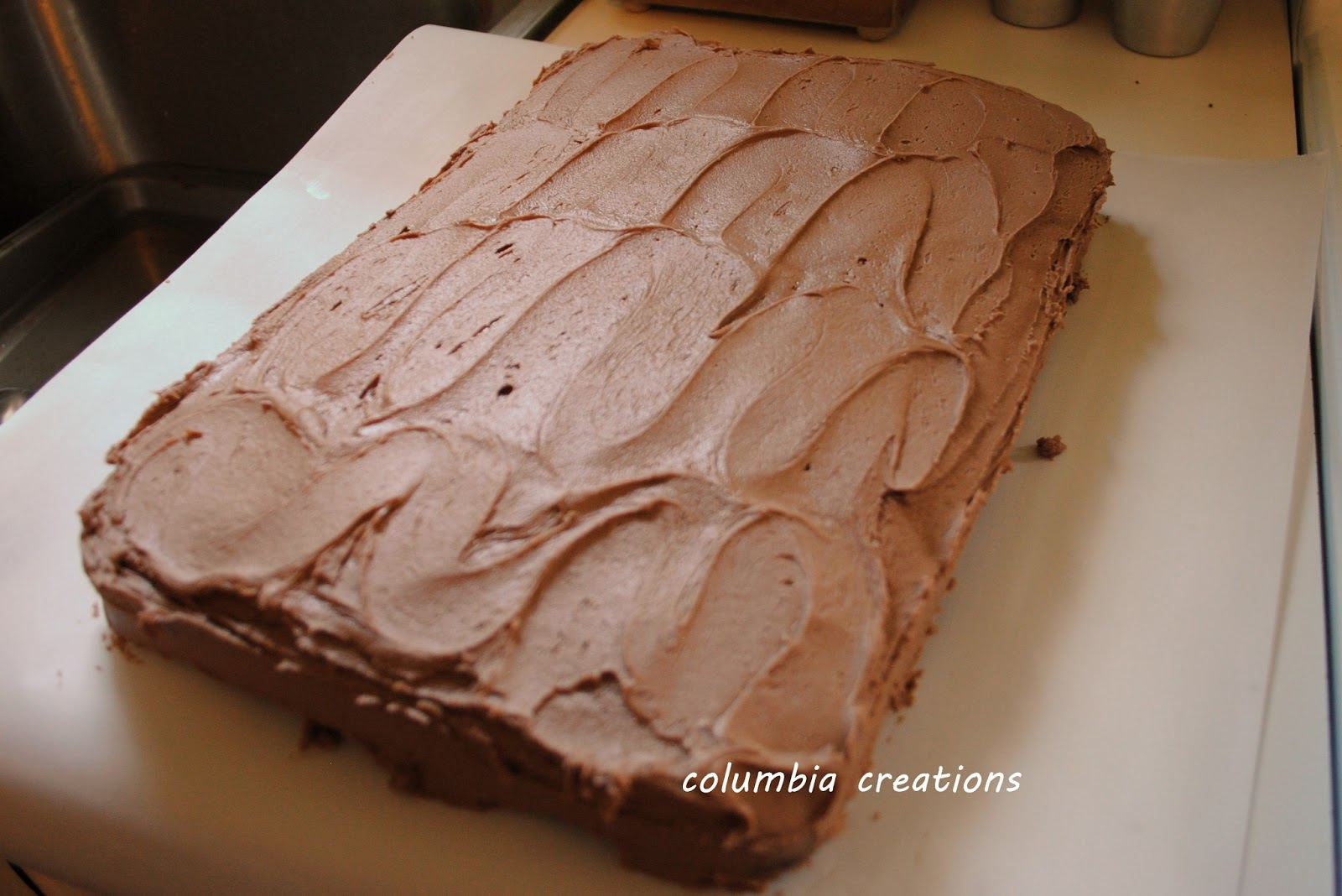 Columbia Creations Brownstone Front Cake