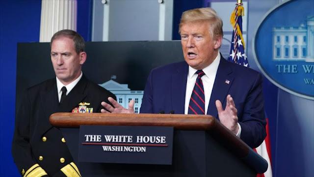 Trump: No tenemos deber moral de frenar bloqueo a Irán por COVID-19