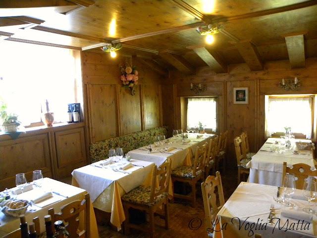 Cortina d'Ampezzo  ristorante Lago Scin interni