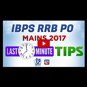 Last Minute Tips For IBPS RRB PO MAINS 2017 For Sure Selection | Cut Off | With Mahendra Guru