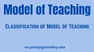Model of Teaching, classification of Model of Teaching