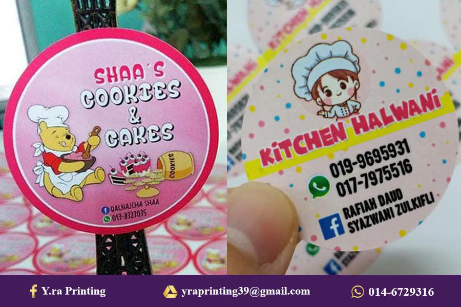 contoh sticker makanan, sticker makanan, tempah label sticker,