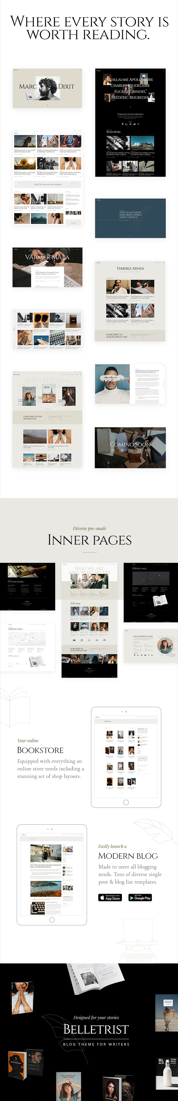 Blog Theme for Writers