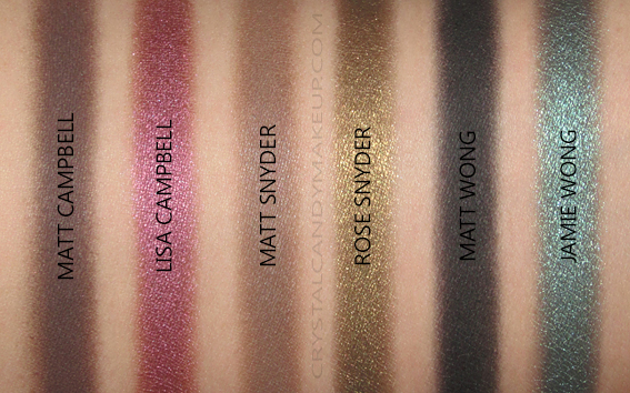 The Balm Meet Matt(e) Shmaker Eyeshadow Palette Swatches