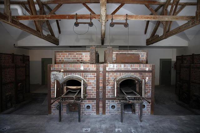 Áreas de cremação no campo de concentração de Dachau
