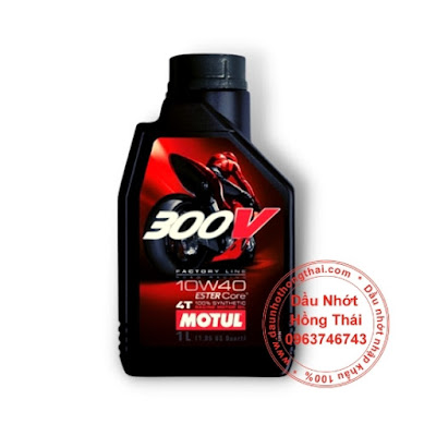 Dầu nhớt xe số Motul 300V 4T 10W40 Factory Line