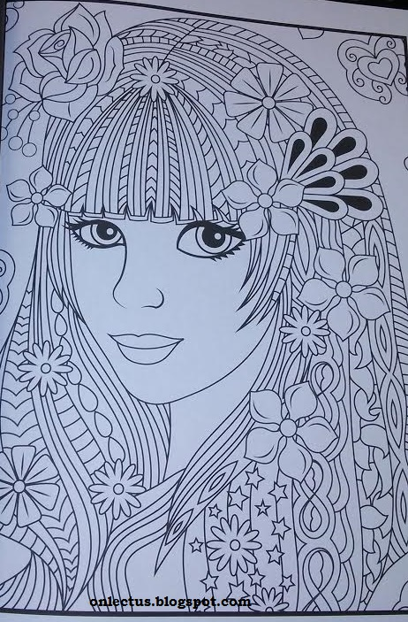 Lectus Coloring Book Flower Girls By Jade Summer