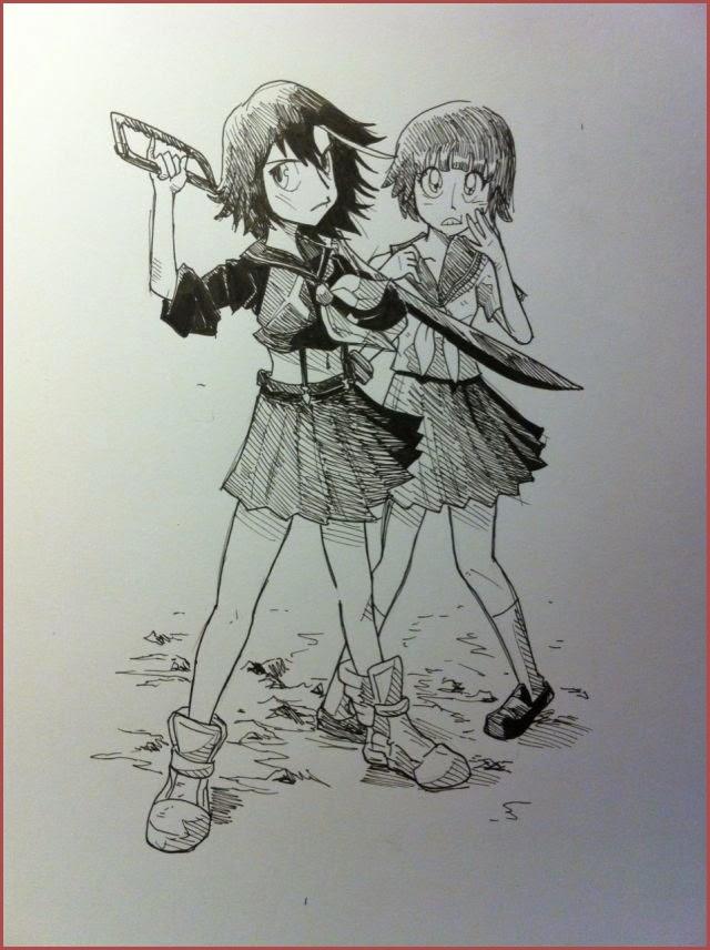 Otaku Soup Anime Blog Fan Art Friday Ryuko And Mako