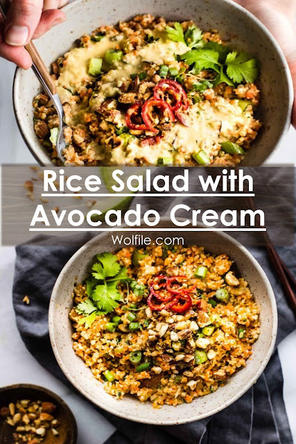 Rice Salad with Avocado Cream