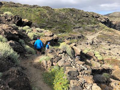 Trail along Punta Spadillo, Pantelleria.