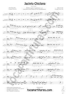 Trombón, Tuba Elicón y Bombardino Partitura a dos voces de Jacinto Chiclana Sheet Music for Trombone, Tube, Euphonium Music Scores (tuba en 8ª baja)