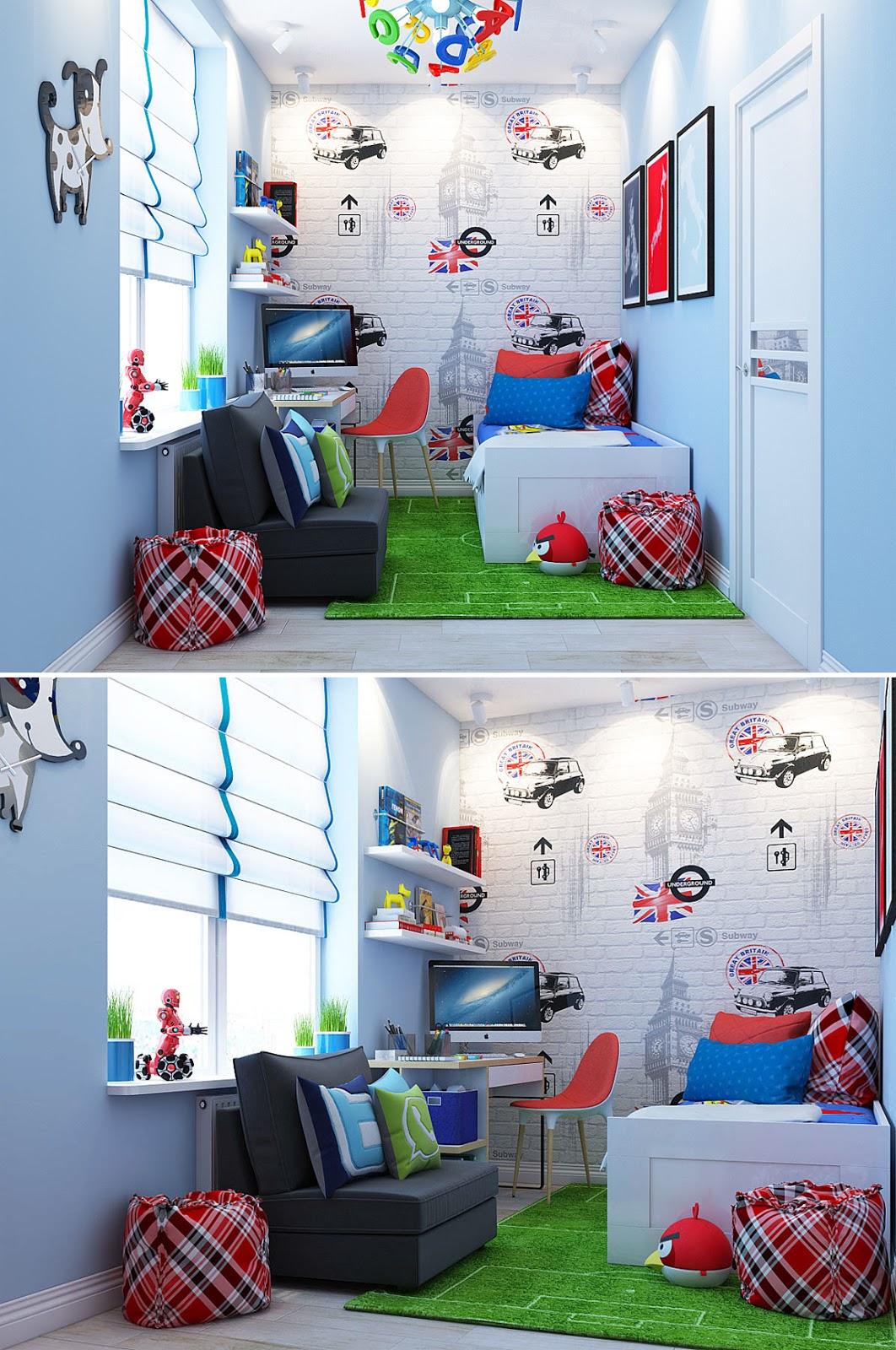 Decoração quarto de menino.