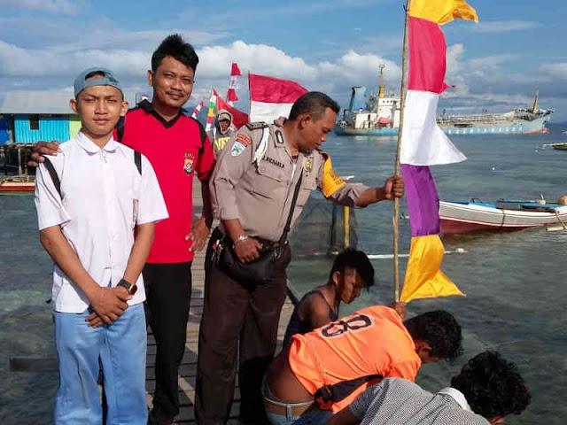 Jelang HUT RI, Polisi Datangi Kampung Tahina Soroma