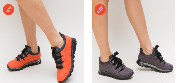 Pantofi casual dama portocalii, gri moderni 2019 ieftini
