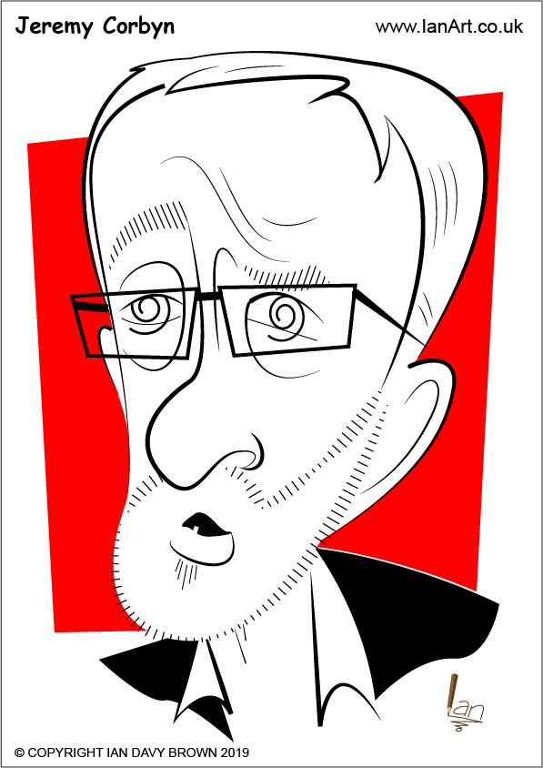 Jeremy Corbyn Caricature Symbolic cartoon