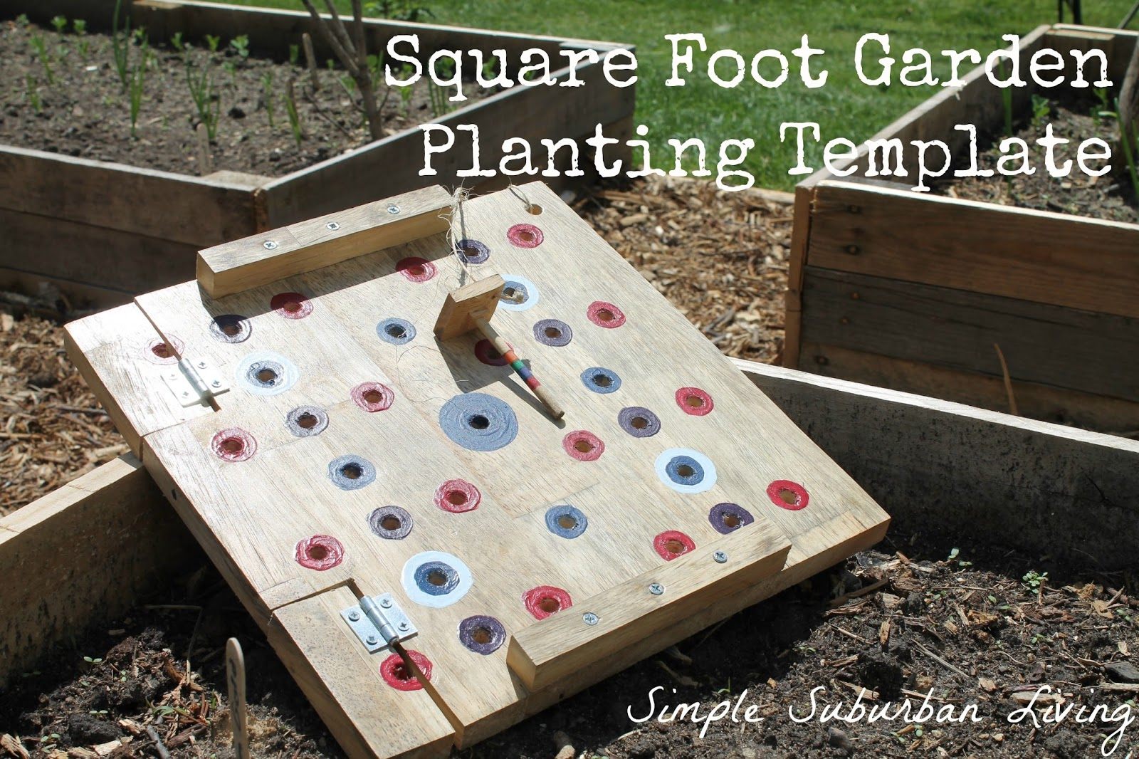 Square Foot Garden Planting Template Simple Suburban Living