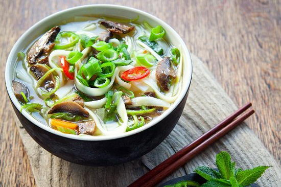 Phở nấm chay