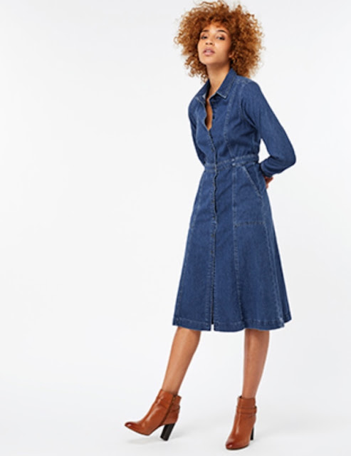 Monsoon Faye midi denim dress
