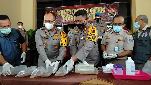 Sebanyak 40.500 Benih Baby Lopster Ilegal Diamankan Polda Jambi