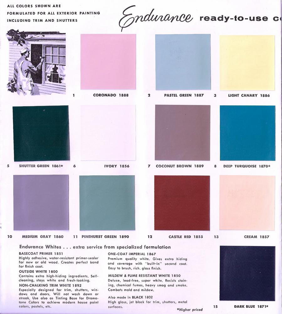 Paint Colors Adobe And Exterior Paint Colors: The Sunshine Grove: 1950s Glidden Exterior Paint