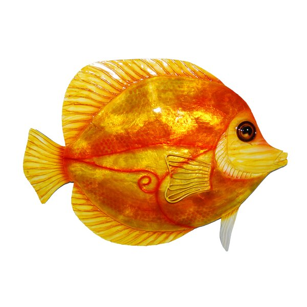 Discus Fish Metal Wall Decor