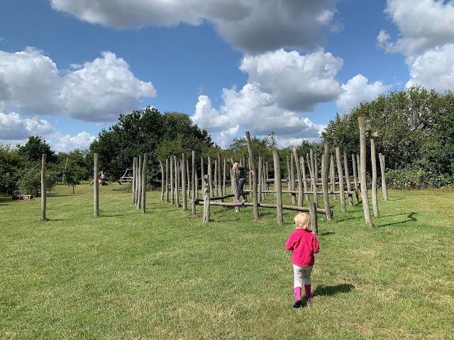 Some of the play area for children at Fairlop Waters country park
