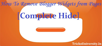 How To Hide Blogger Widgets from Certain Pages [Complete Hide]