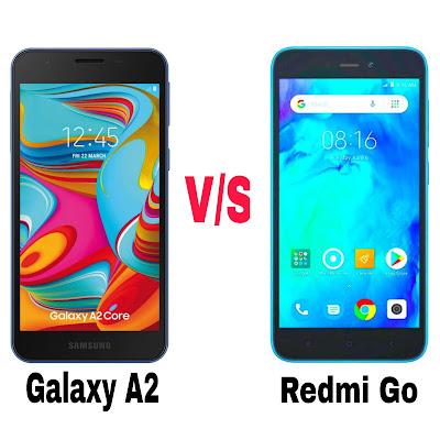 Redmi Go Phone Compare To Galaxy A2 Core Phone