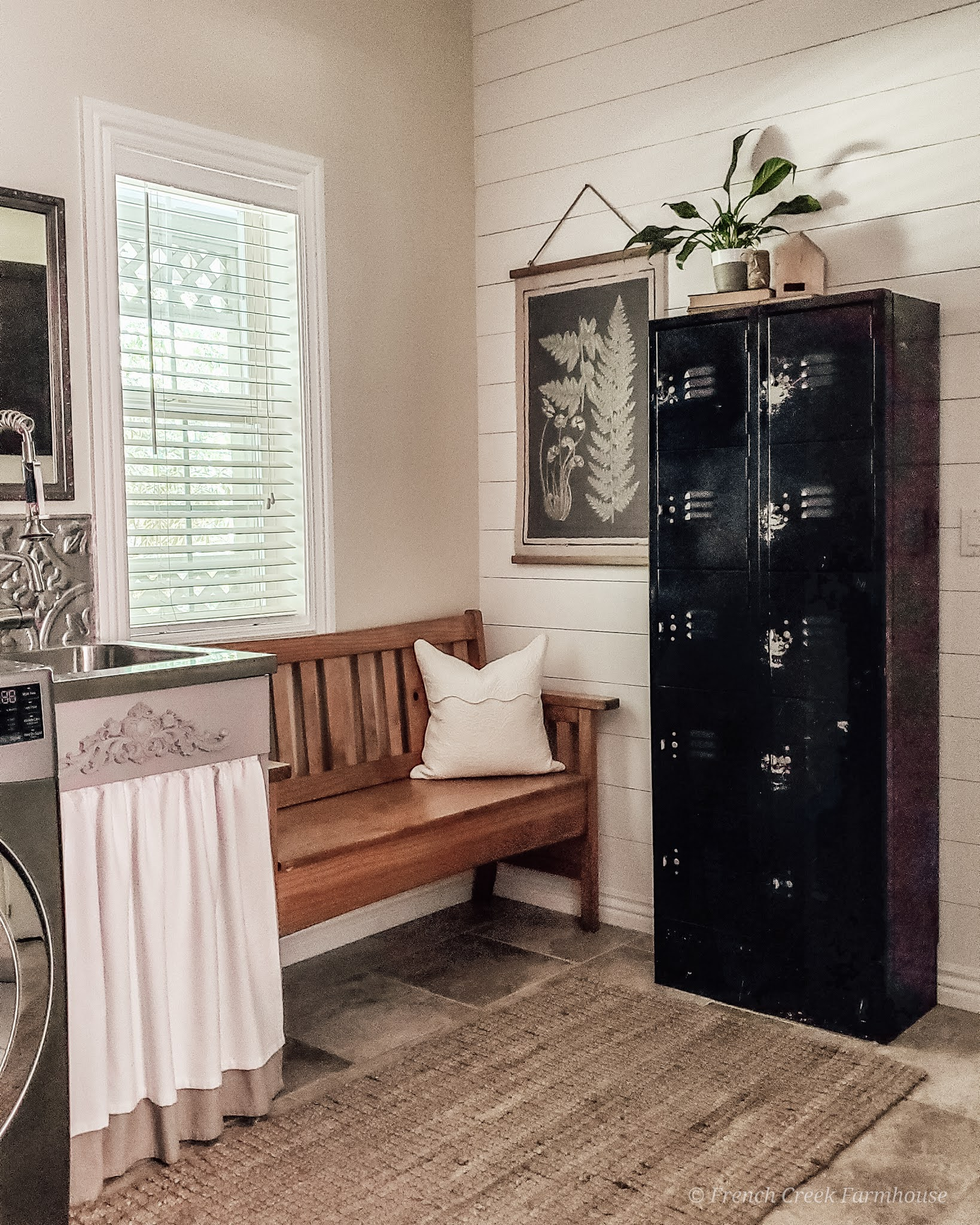The transformation of our farmhouse laundry room is amazing and only took 8 weeks