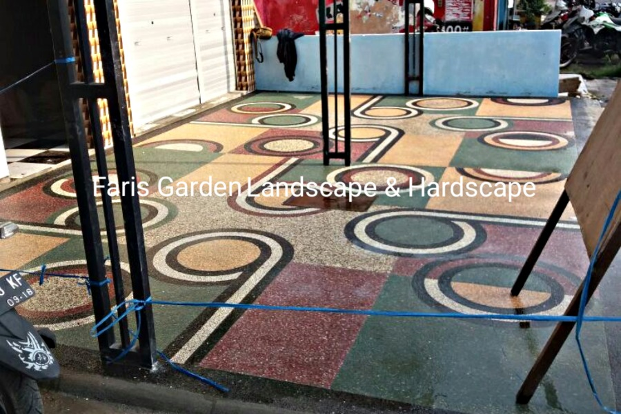 Jasa Tukang Batu Sikat Kendal | Jasa Pembuatan Lantai Carport Batu Sikat di Kendal
