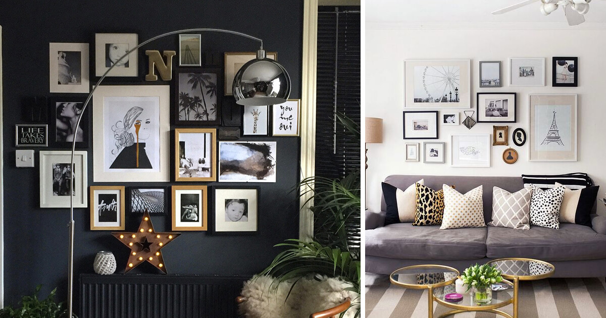 Hang Your Photos Instead Of Delicate Photo Frames Displayed On Low Surfaces Opt For A More Stylish And Child Friendly Wall