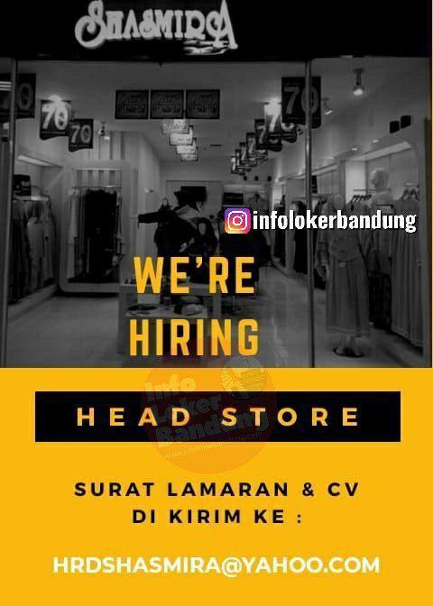 Lowongan Kerja Head Store Shasmira Bandung Desember 2019