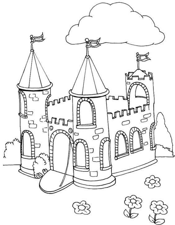 Tranh cho bé tô màu lâu đài 9