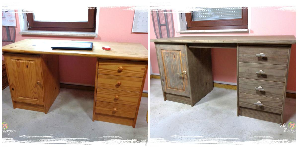 Recycling bauen schreibtisch upcycling aus alt wird for Schreibtisch alt
