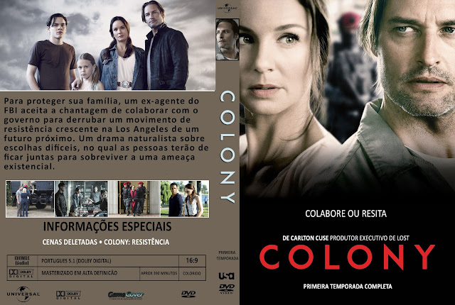 Capa DVD Colony Primeira Temporada Completa [Exclusiva]