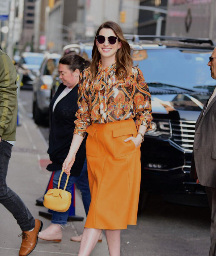 Anne Hathaway's iconic looks for the Ocean's 8 press tour
