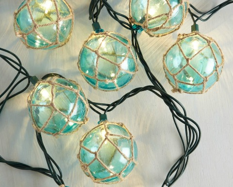 Coastal Lamps Inspired By Fishing Glass Floats Coastal