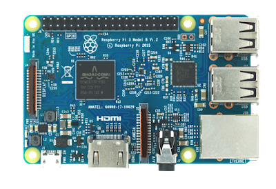 Raspberry Pi 3 Azul Brasil