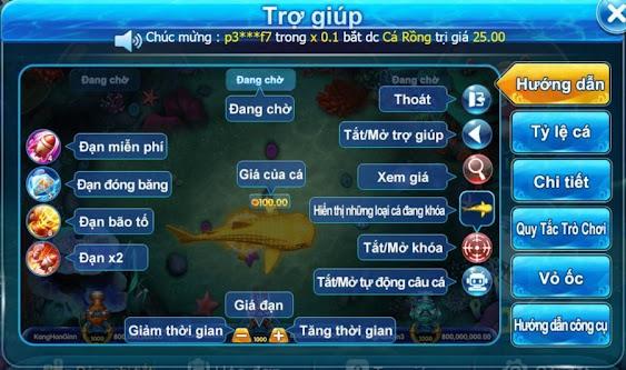 Giao diện của trò bắn cá 2