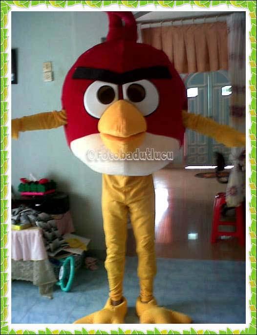 Jual Kostum Badut Angry Bird Red Kepala Besar