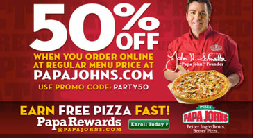 Papa johns coupons for wings / Minute maid kids