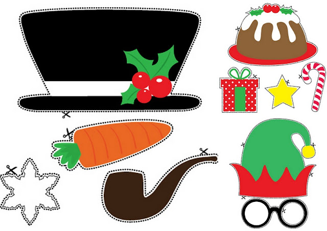 christmas photo booth props printable pdf