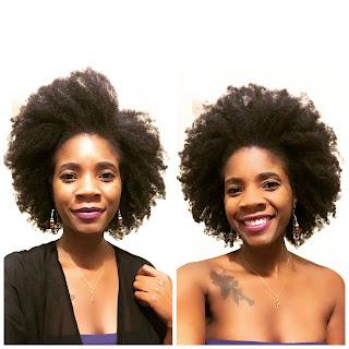 4C Natural Hair Afro