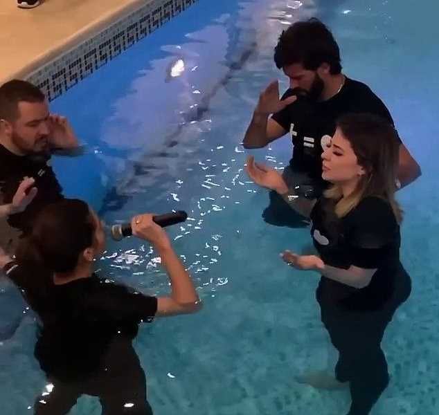 Liverpool Goalkeeper Alisson BAPTISES Man United Star Fred's Wife (Photos)