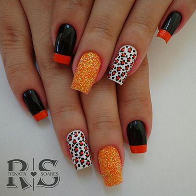 unhas decoradas laranja 3