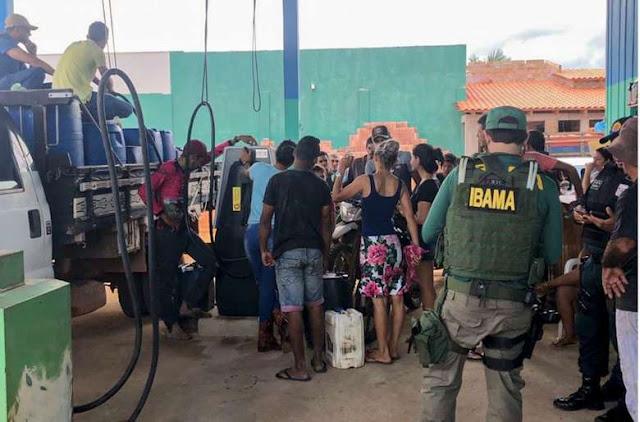 Postos de combustíveis clandestinos fechados pelo Ibama abasteciam máquinas para desmatamento na região de Altamira