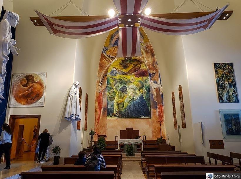 Interior do Santuário do Cristo Rei - o que  fazer em Lisboa